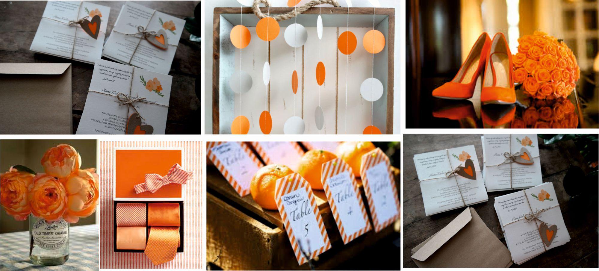 zaproszenia ślubne pomarańcz