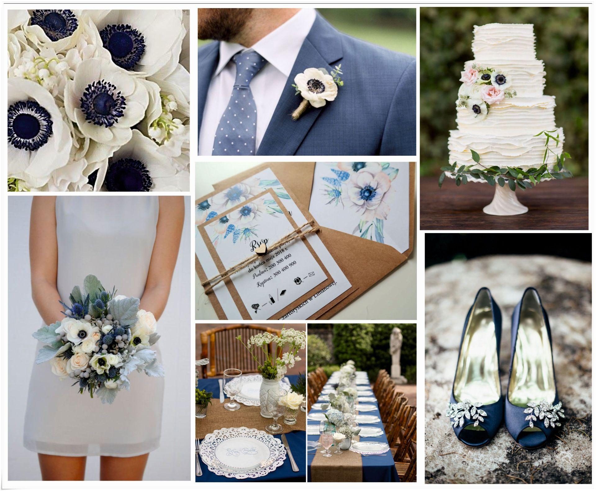 Zaproszenie ślubne Rustykalne Z Niebieskimi Kwiatami Fabryka Zaproszen