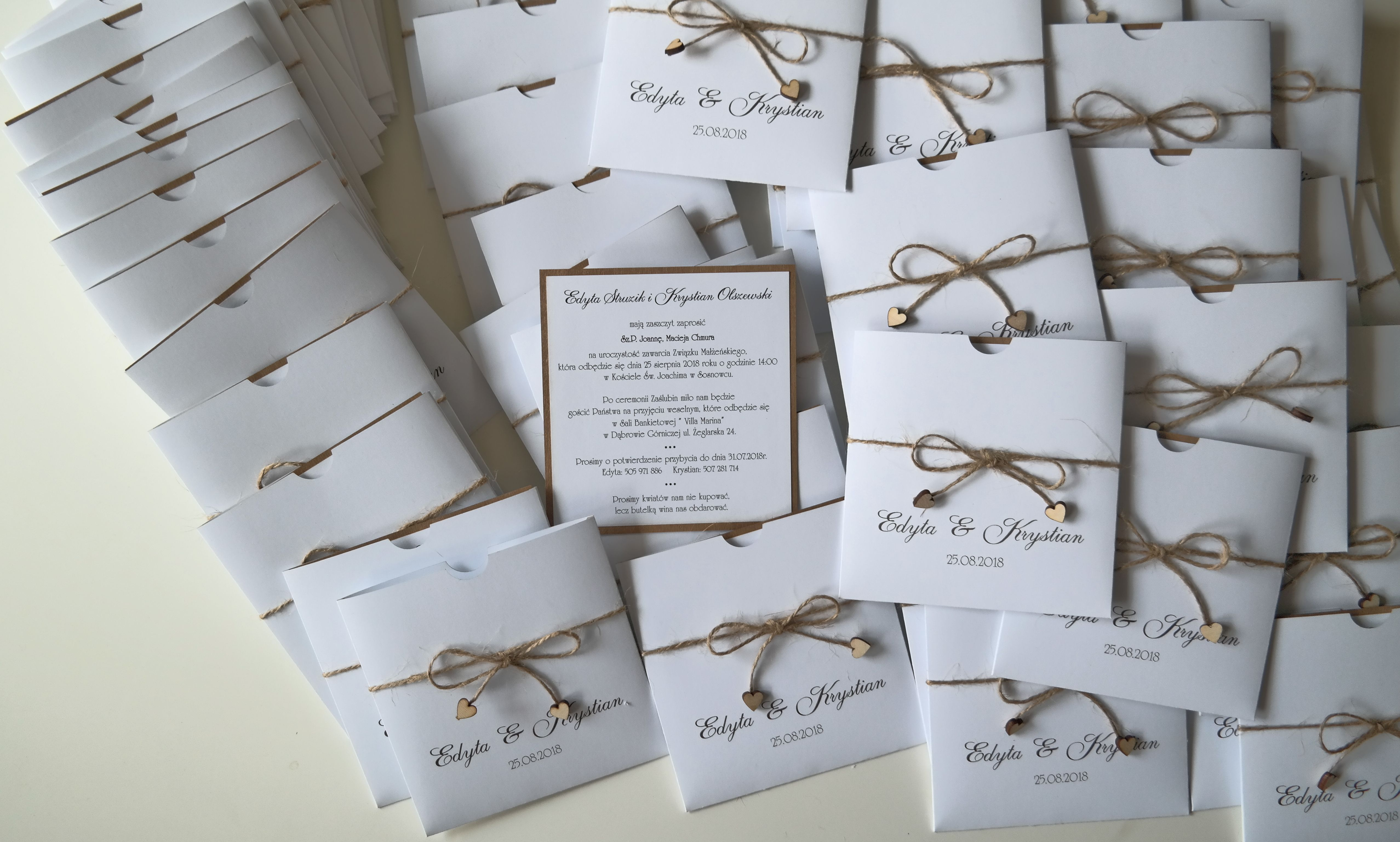 Zaproszenia Na ślub Drewniane Serduszka Blog Fabryka Zaproszeå