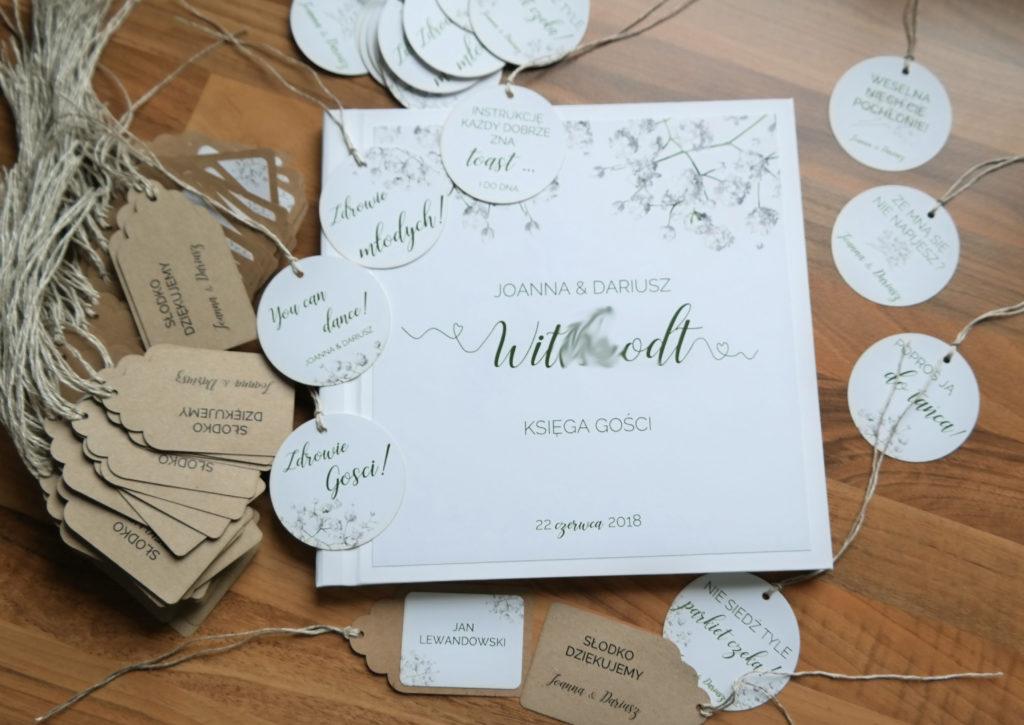 dodatki ślubne i weselne z gipsówką