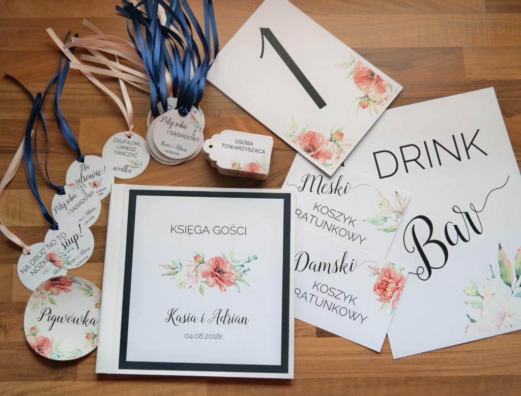 księga gości i menu weselne