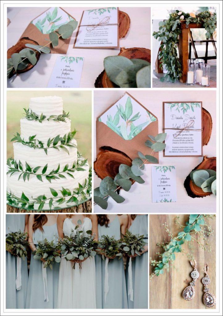 zaproszenie ślubne z eukaliptusem